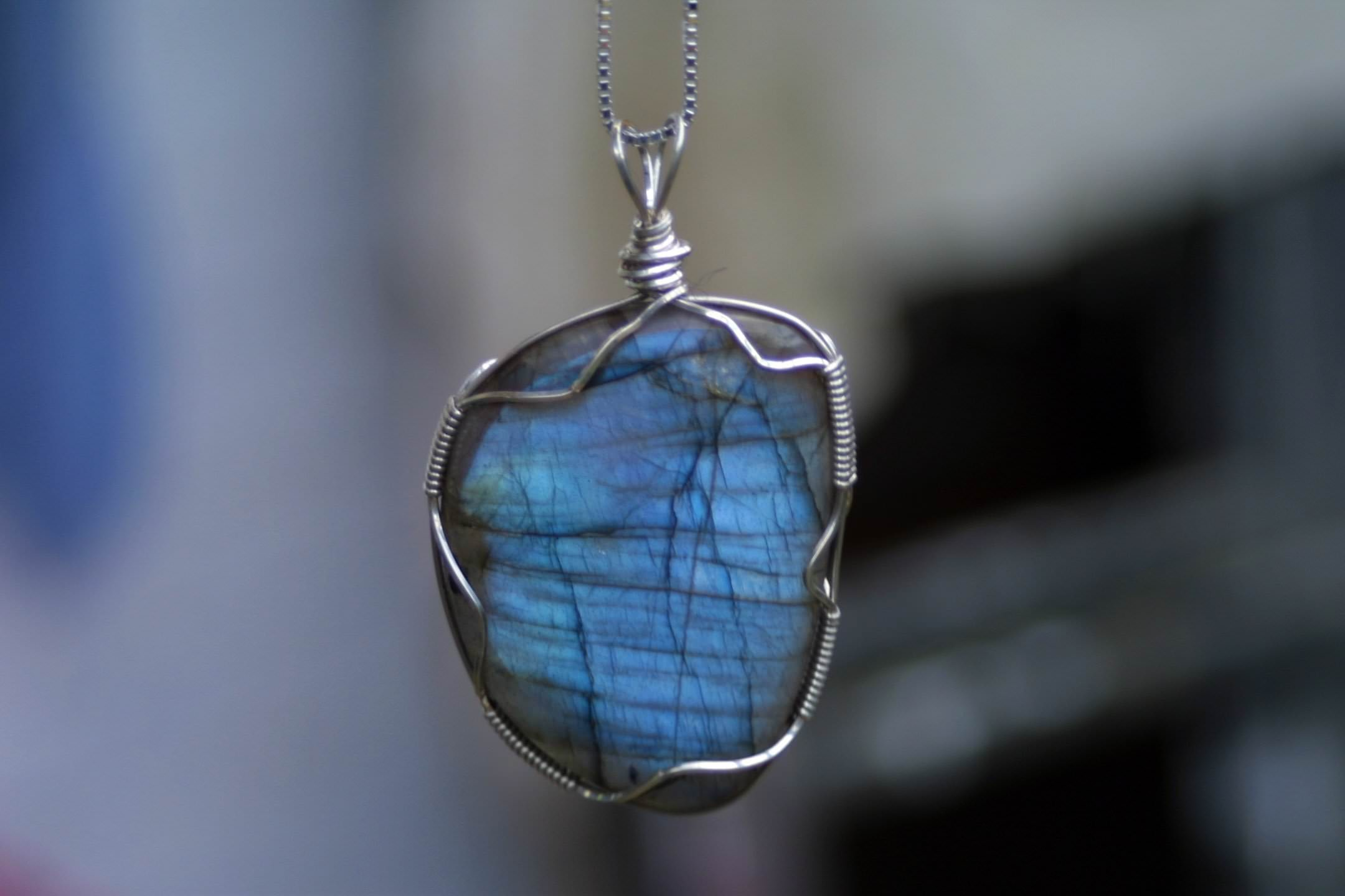 Labradorite Wire Wrapped Pendants Archives - Rough Rocks, Minerals ...