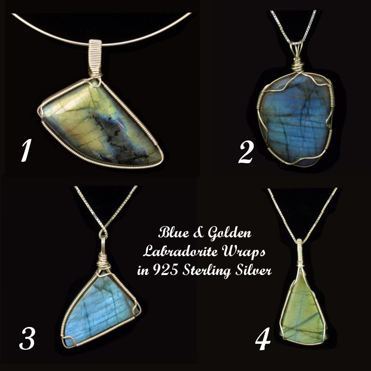 A small Labradorite pendant collection.