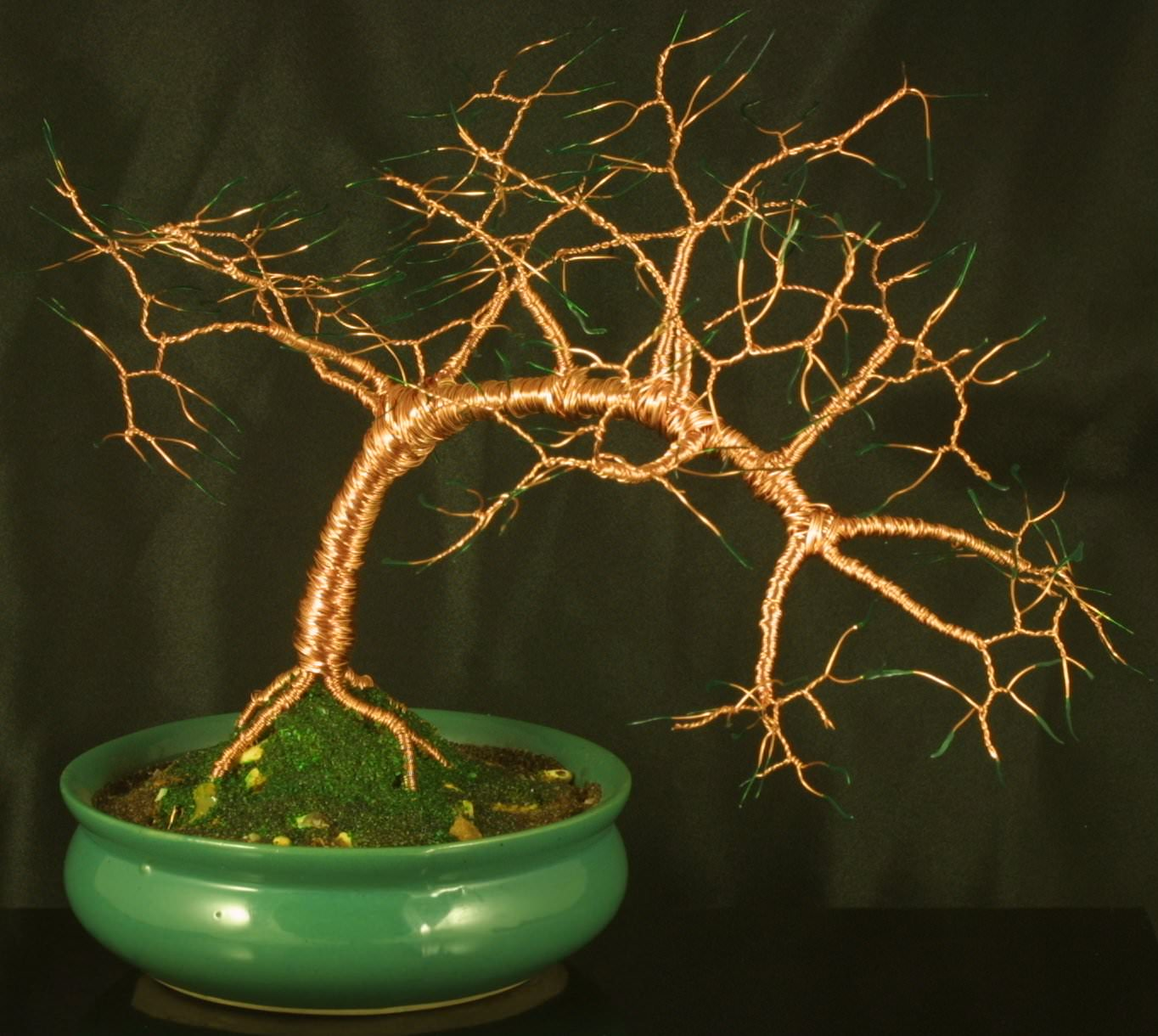 Pure Copper Wire Bonsai Tree Sculpture